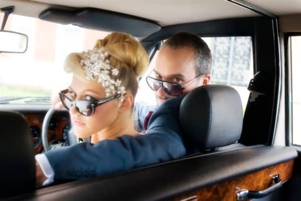 Normally the Bride and Groom don't drive themselves!!&nbsp;&nbsp;&nbsp; - &nbsp;&nbsp;&nbsp;<small>&copy;&nbsp;&nbsp; Fetcham Park & efc photography&nbsp;</small>