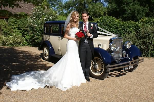 Both look wonderful against the wedding car Melissa&nbsp;&nbsp;&nbsp; - &nbsp;&nbsp;&nbsp;<small>&copy;&nbsp;&nbsp; David Jones&nbsp;</small>